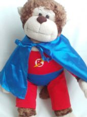 Adorable Big 'SuperMonkey' Build-a-Bear Plush Toy